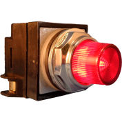 Springer Controls N7PLSRR02-240,30mm Illum. Push-Button,Extended,Momentary,240V, 1 N.O.+1 N.C.,Red