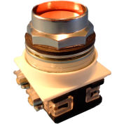 Springer Controls N7PNEA01, 30 mm Recessed Push Button, 1 Normally Closed, Momentary, Amber