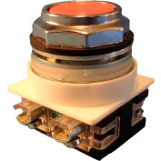 Springer Controls N7PNGA10, 30 mm Flush Push Button, 1 Normally Open, Momentary, Amber