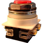 Springer Controls N7PNSR01, 30 mm Extended Push Button, 1 Normally Closed, Momentary, Red