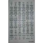 T.E.R., PRET0220EN Decal Sheet, Use w/ MIKE & VICTOR Pendants, 1 Hook