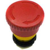 T.E.R., PRSL1881PI 40mm Latched Mushroom Pushbutton E-Stop, Use w/ MIKE & VICTOR Pendants
