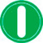 T.E.R., PRTA001MPI Green Power Symbol Button Insert, Use w/ MIKE & VICTOR Pendants