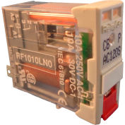 RelayGo RF1010LN024, Interface Relay w/ LED, 10A Switch, 24V AC, SPDT, 5-Blade