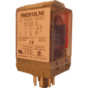 RelayGo RM2010LN024D, Industrial Relay w/ LED, 10A Switch, 24V DC, DPDT, 8-Pin