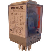 RelayGo RM3010LN024, Industrial Relay w/ LED, 10A Switch, 24V AC, 3PDT, 11-Pin