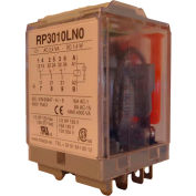 RelayGo RP3010LN024, Power Relay w/ LED, 16A Switch, 24V AC, 3PDT, 11-Blade