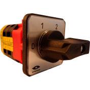 Springer Controls / MERZ V151/12-AA, 4 Steps Switch w/Zero Pos., 1-Pole, 20A, 4-hole front-mount