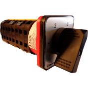 Springer Controls / MERZ V251/12-AB, 4 Steps Switch w/Zero Pos., 1-Pole, 25A, 4-hole front-mount