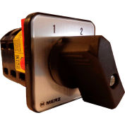 Springer Controls / MERZ Z105/1-AA, Change-Over Switch w/Zero Pos., 1-Pole, 16A, 4-hole front-mount