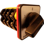 Springer Controls / MERZ Z756/3-AC, Change-Over Switch w/Zero Pos., 3-Pole, 100A, 4-hole front-mount
