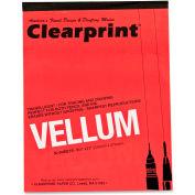 "ClearPrint Vellum Pad 8.50"" x 11"" White 50 Sheets/Pad"