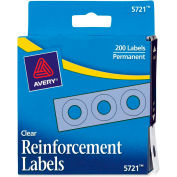 "Avery® Reinforcement Labels, 1/4""W x 1/4""H, Clear, 200/PK"
