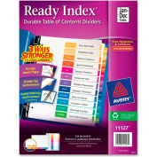 "Avery Ready Index T.O.C. Reference Divider, Jan to Dec, 8.5""x11"", 12 Tabs, White/Multi"