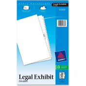 "Avery Premium Collated Legal Exhibit Divider, Printed 26 to 50, 8.5""x14"", 26 Tabs, White/White"