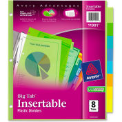 Avery Big Tab Plastic Insertable Divider, Print-on, 8 Tabs, Multicolor/Multicolor