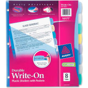 "Avery Pocket Divider, Write-on, 8.5""x11"", 8 Tabs, Multicolor/Multicolor"
