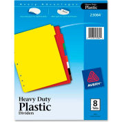 "Avery Plastic Tab Divider, Blank, 8.5""x11"", 8 Tabs, Multicolor/Multicolor"