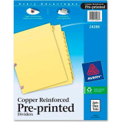 """Avery Monthly Copper Reinforced Laminated Tab Divider, Jan to Dec, 8.5""""x11"""", 12 Tabs, Buff/Buff"""