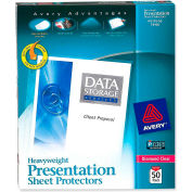 """Avery® Diamond Clear Top Loading Sheet Protector, Heavy Weight, 8-1/2""""W x 11""""H, Clear, 50/PK"""