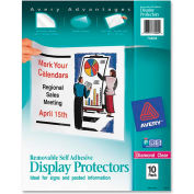 "Avery® Removable Self Adhesive Display Protector, 8-1/2""W x 11""H, Clear, 10/PK"
