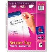 "Avery® Secure Top Load Sheet Protector, 8-1/2""W x 11""H, Clear, 25/PK"