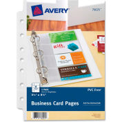 Avery® Mini Business Card Page, Clear - Pkg Qty 5