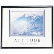 "Advantus® Motivational ""Attitude"" Poster, 78024, 30""W X 24""H, Black Frame"