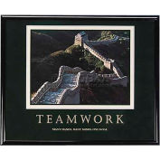 "Advantus® Teamwork Motivational Poster, 78025, 30""W X 24""H, Black Frame"