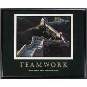 "Advantus® Teamwork Motivational Poster, 78025, 30""W X 24""H, Black Frame"