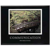 "Advantus® Communication Poster, 78026, 30""W X 24""H, Black Frame"