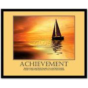 """Advantus® Motivational """"Achievement"""" Poster, 78081, 30""""W X 24""""H, Black Frame"""