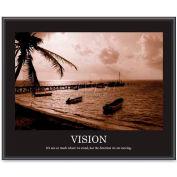 "Advantus® Motivational ""Vision"" Poster, 78163, 30""W X 24""H, Black Frame"
