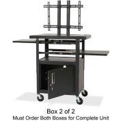 """Balt® LCD Cart, Box 2 of 2, Shelves, Mounting System, 24""""x18""""x62"""", Black"""
