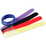 "Compucessory Hook &Loop Cable Ties, 13081, Cable Ties, 7""W X .8""D X .1""H, 10/Pk, Assorted"