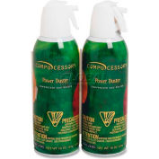 Compucessory Air Duster Cleaner, 24302, Ozone-Safe, Moisture-Free, 10 Oz Can, 2/Pk
