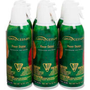 Compucessory Air Duster Cleaner, 24306, Ozone-Safe, Moisture-Free, 10 Oz Can, 6/Pk