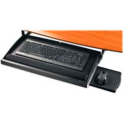 "Compucessory Underdesk Keyboard Drawer, 25005, 22-1/2"" X 11-3/4"" X 2-1/5"", Black"