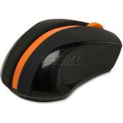 "Compucessory Wireless Mouse, 30226, 2.4GHz, 2-1/4"" X 3-3/4"" X 1-1/2"", Black/Orange"
