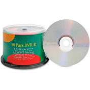Compucessory DVD-R, 35557, 16X Speed,  4.7GB, Branded, 50/Pk, Silver