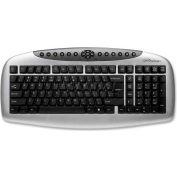 "Compucessory Multimedia Keyboard, 56260, A-Shape, 17-1/3"" X 9-1/16"" X 1-5/8"", Black"