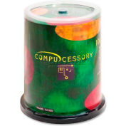 Compucessory CD-R Discs, 72100, 52x, 700MB/80Min, Branded, Spindle, 100/Pk