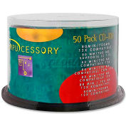 Compucessory CD-RW Discs, 72102, 12X, 700MB/80Min, Branded, Spindle, 50/Pk, Silver