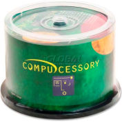 Compucessory CD-R Discs, 72250, 52x, 700MB/80Min, Branded, Spindle, 50/Pk