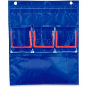 "Carson-Dellosa® Deluxe Counting Caddy, 158026, 3 Double Pockets, 12-3/4""W X 15-1/4""H, Blue"
