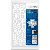 "Chartpak® Vinyl Numbers/Letters, 1""H, White"