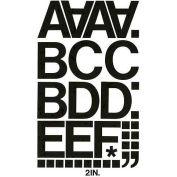"Chartpak Vinyl Letters & Numbers, CHA01050, 2""H, Black, Helvetica Font, 77 Pcs"
