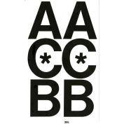 "Chartpak Vinyl Letters, CHA01070, 3""H, Black, Helvetica Font, 50 Pcs"
