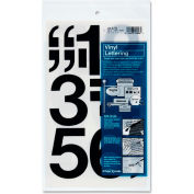 "Chartpak® Vinyl Numbers, 3""H, 16/ST, Black"