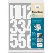"Chartpak® Vinyl Numbers, 4""H, White"